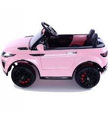 matte pink jeep range rover evoque style 12v child u0027s ride on car pink outdoor toys