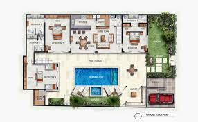 villa floor plan bali villa with layout floor plan