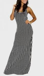 black and white vertical striped maxi dress 2016 2017 b2b fashion