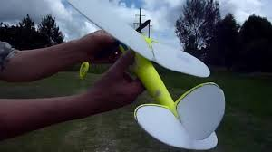 old timer rubber band plane chuck launch youtube