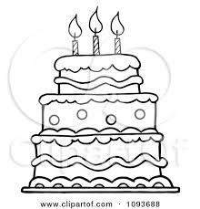 coloring page decorative drawn birthday cake maxresdefault