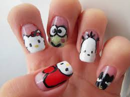 nail art tutorial sanrio melody hello kitty keroppi pochacco