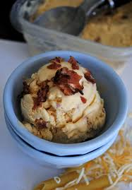 macaroni and cheese ice cream with candied bacon fat