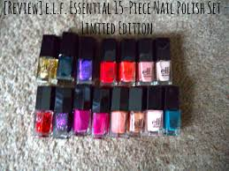 review e l f essential 15 piece nail polish set limited