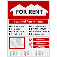 forrent flyer example for rent