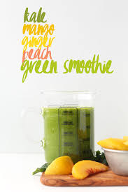 mango ginger kale green smoothie minimalist baker recipes