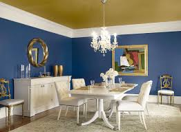 dining navy blue dining room