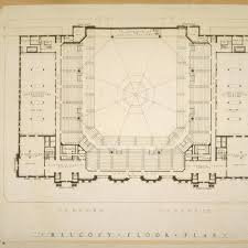 Municipal Hall Floor Plan by Calisphere Balcony Floor Plan Photographic Reproduction Of