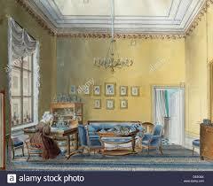 interior in e boratynsky u0027s house moscow russia 1830s artist