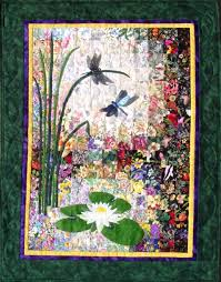 whims watercolor quilt kits dragonflies and lilypads