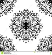 seamless black and white pattern with round stock vector image