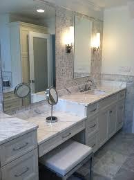 60 inch vanity bathroom modern with 12x12 marble floor 60