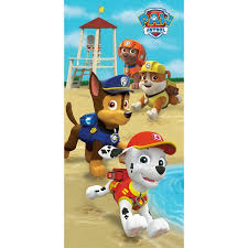 paw patrol puppy run beach towel walmart