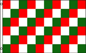 Flag That Is Green White And Red Red Green White Checkered Flag Advertising Banner Sign Party