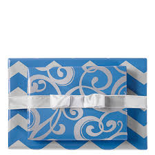 silver swirl chevron reversible wrapping paper mixed bag designs