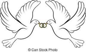 dessin mariage clipart de icône anneau mariage style dessin animé toile