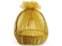 gold organza bags gold sheer wrappers organza basket bags