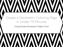 create a geometric coloring page in less than 10 minutes using