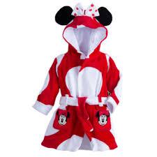 robe de chambre minnie peignoir à capuche pour bébé minnie