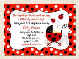ladybug baby shower ideas ladybug baby shower invitations cloveranddot