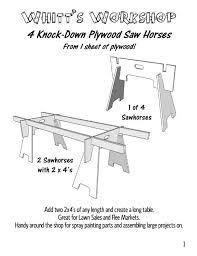 jeep bed plans pdf 4 knock down plywood saw horses from 1 sheet of plywood wood