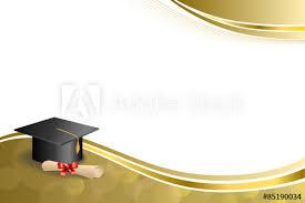 graduation cap frame beige education graduation cap diploma bow gold frame buy