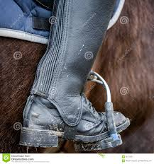 dirty riding boots close up of a dirty riding boot stock image image of detail