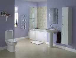 cozy modern bathroom suites ideas with smooth purple walls