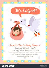 cute baby shower card stork stock vector 428523685 shutterstock