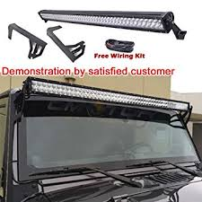 jeep jk light bar brackets amazon com omotor light bar 07 15 jeep wrangler jk 4 door