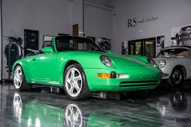 green porsche convertible 1997 porsche 911 993 carrera cabriolet u2013 1 of 1 in signal green