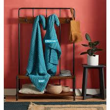 better homes and gardens ls mighty easy knit or crochet kit turquoise better homes garden shop