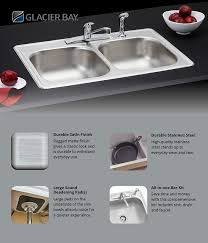 What To Look For In A Kitchen Faucet by Glacier Bay All In One Drop In Stainless Steel 33 In 4 Hole