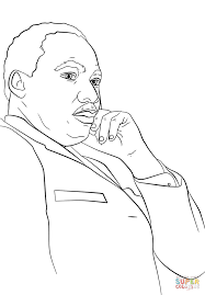 martin luther king jr coloring page free printable coloring pages