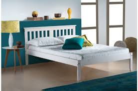 White Wood Bed Frame Birlea Salvador White Wooden Bed Frame 109 Beds Direct Warehouse