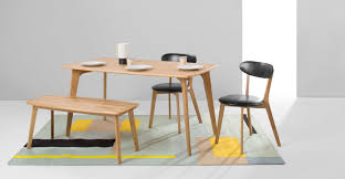 Dining Table Sets Oak by Veneer Dining Set With Cushioned Chairs And Bench The Rectangle