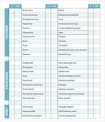 sample checklist 12 documents in pdf wordsample checklist