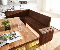 eckbank landhausstil massivholz polsterbank otello braun 200x160 antik optik ottomane links