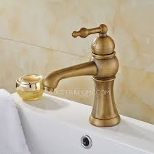 european style antique copper brushed single hole bathroom faucet