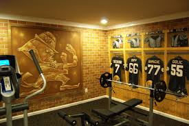 home workout room design pictures notre dame football locker room mural by tom taylor of wow effects