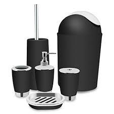 amazon com black bathroom accessories set bath toilet brush