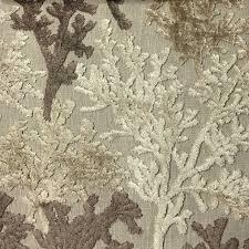 Velvet For Upholstery Reef Coral Cut Velvet Upholstery Fabric Yard Beach Style