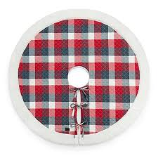 plaid tree skirt ugg cer plaid tree skirt in bed bath beyond