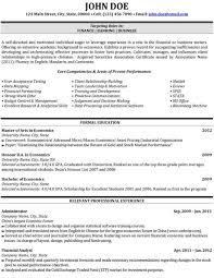 Resume Samples Finance by Download Finance Resume Haadyaooverbayresort Com