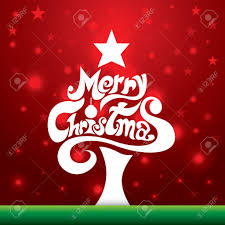 home design merry christmas lettering background vector