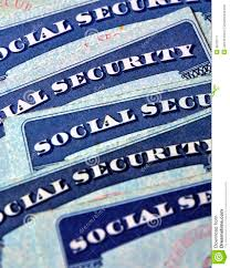 social security cards representing retirement stock image image