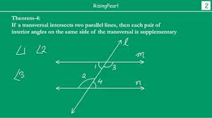 Same Side Interior Angles Definition Geometry Interior Angles On Same Side Of Transversal Are Supplementary