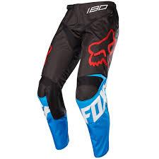 fox motocross trousers fox mx pants 180 sabbath blue black limited edition 2017