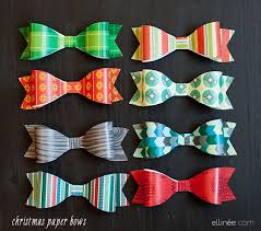 bow wrapping paper easy diy paper bows for christmas gifts the elli