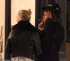 Roll It Up Light It Up Smoke It Up Jaden Smith Puffs On A Suspicious Looking Roll Up Out In London